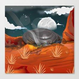 Roswell UFO Crash!  Canvas Print