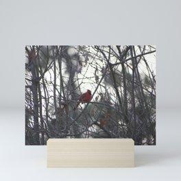 A bright little spark of life Mini Art Print
