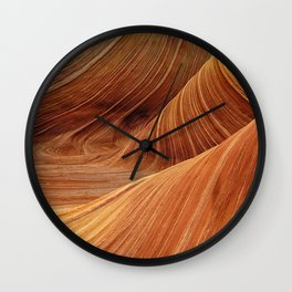 Land of red sands Wall Clock