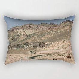 Highway in a desert, Death Valley National park Rectangular Pillow