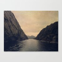 mountains Canvas Prints featuring mountains by Ingrid Beddoes