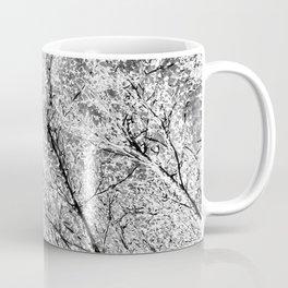 Monochrome Snow Trees Coffee Mug