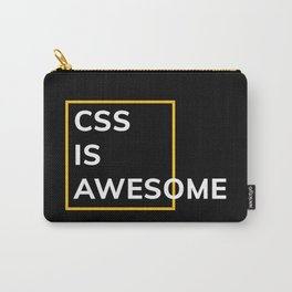 CSS IS AWESOME (Yellow & White) Carry-All Pouch