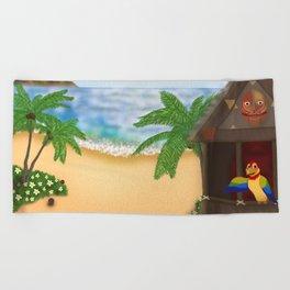 """Welcome to Polynesian Paradise"" Beach Towel"