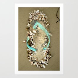 Sea Sandal Art Print