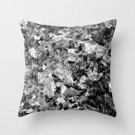 Blue Pearl Granite #2 #BlackAndWhite #decor #stone #art #society6 Throw Pillow