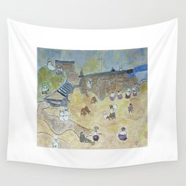 A day off at the beach - 1800s  Wall Tapestry