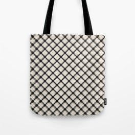 white&black flower pattern Tote Bag