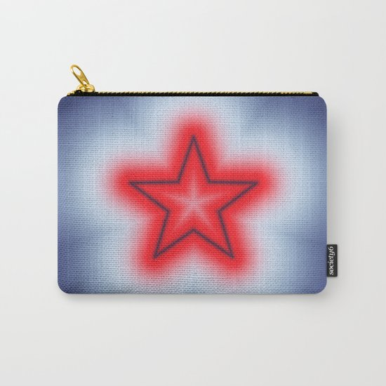 Red White and Blue Star Carry-All Pouch