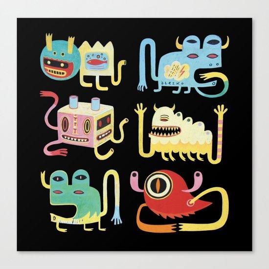Petits monstres  Canvas Print