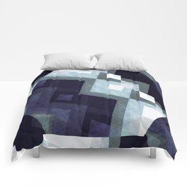 Scandinavian art print, Scandinavian poster art, blue art, Scandinavian poster print, Modern poster Comforters