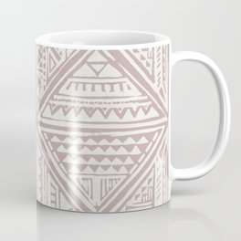 Simply Tribal Tile in Red Earth on Lunar Gray Coffee Mug
