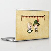 german Laptop & iPad Skins featuring German Chibis by artwaste