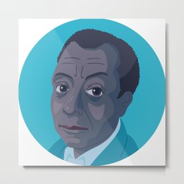 Queer Portrait - James Baldwin Metal Print