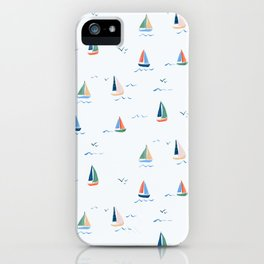 Sailboats by Lindsay Brackeen iPhone Case