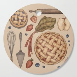 Pie Baking Collection Cutting Board