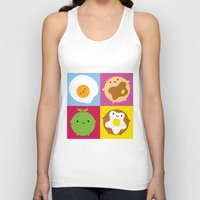 kawaii Tank Tops featuring Kawaii Breakfast by Marceline Smith