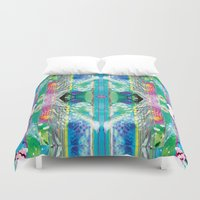 kaleidoscope Duvet Covers featuring kaleidoscope by Xenia Pirovskikh