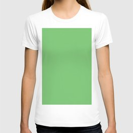 Spring Green Solid Color T-shirt