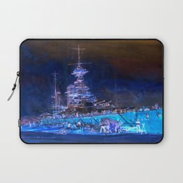 "Charles William Wyllie ""Princess Royal in dry dock after the Jutland battle"" Laptop Sleeve"