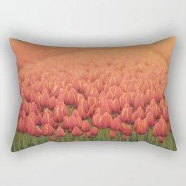 Tulips field 11 Rectangular Pillow