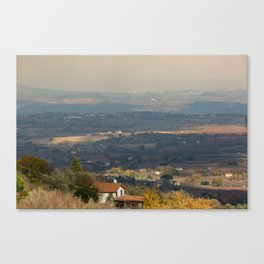 Sunset Italian countryside landscape view Canvas Print
