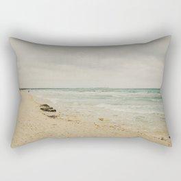 Es Trenc, Mallorca- Travel photography - Windy beach days Rectangular Pillow