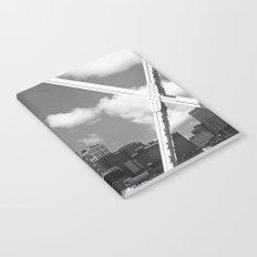 Nashville City Scape Black and White Notebook
