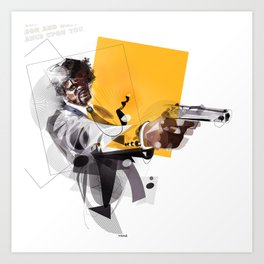 pulp fiction samuel lee jackson Art Print