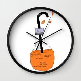 Bad Ideas Orange Juice Wall Clock