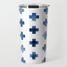 Crosses Scandinavian Pattern Travel Mug