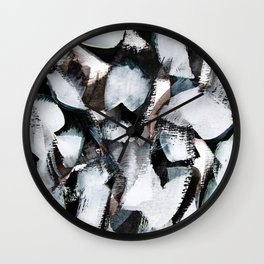 abstract brush painting Wall Clock