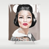 vogue Shower Curtains featuring VOGUE II by Irene D'Anto'