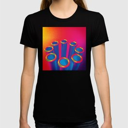 Colorful Pop Art Cylinders T-shirt