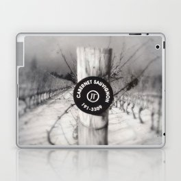 Cabernet - black and white wine photo vineyard Laptop & iPad Skin