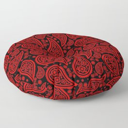 Paisley (Red & Black Pattern) Floor Pillow