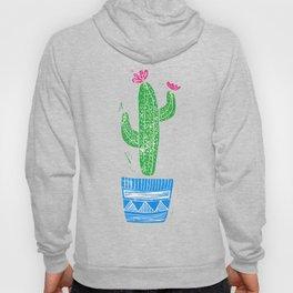 Linocut Cactus #2 in a pot Hoody