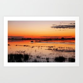 Evening in Africa Art Print