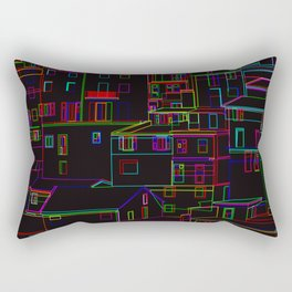 Midnight in Manarola, Cinque Terre, Italy Rectangular Pillow