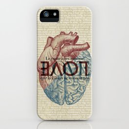 Love is...heart and reason iPhone Case