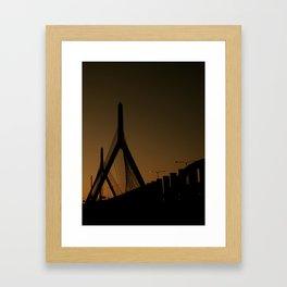 Zakim Bridge Framed Art Print