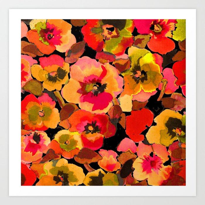 peach floral Kunstdruck by ariadne  c67ecdc4b