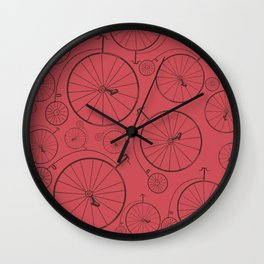 Vintage cycle red Wall Clock