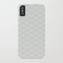 Gray Grey Mermaid Scales Sea Salt iPhone Case