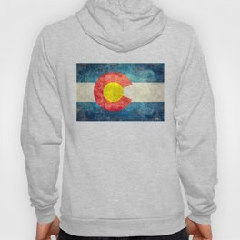 Colorado State Flag in Vintage Grunge Hoody