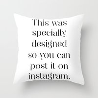 instagram Throw Pillows featuring Instagram by Max Croissant