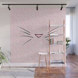 Crazy Cat Lady (Meow Meow Meow Pattern) Wall Mural
