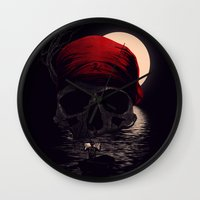 hunting Wall Clocks featuring Treasure Hunting by nicebleed