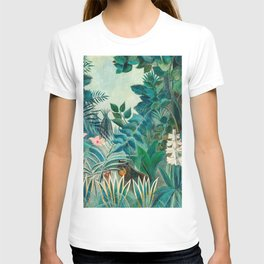 Wildlife in Tropical Jungle Painting T-shirt