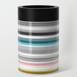 grey and colored stripes Can Cooler